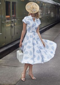 Blue and White 50's dress